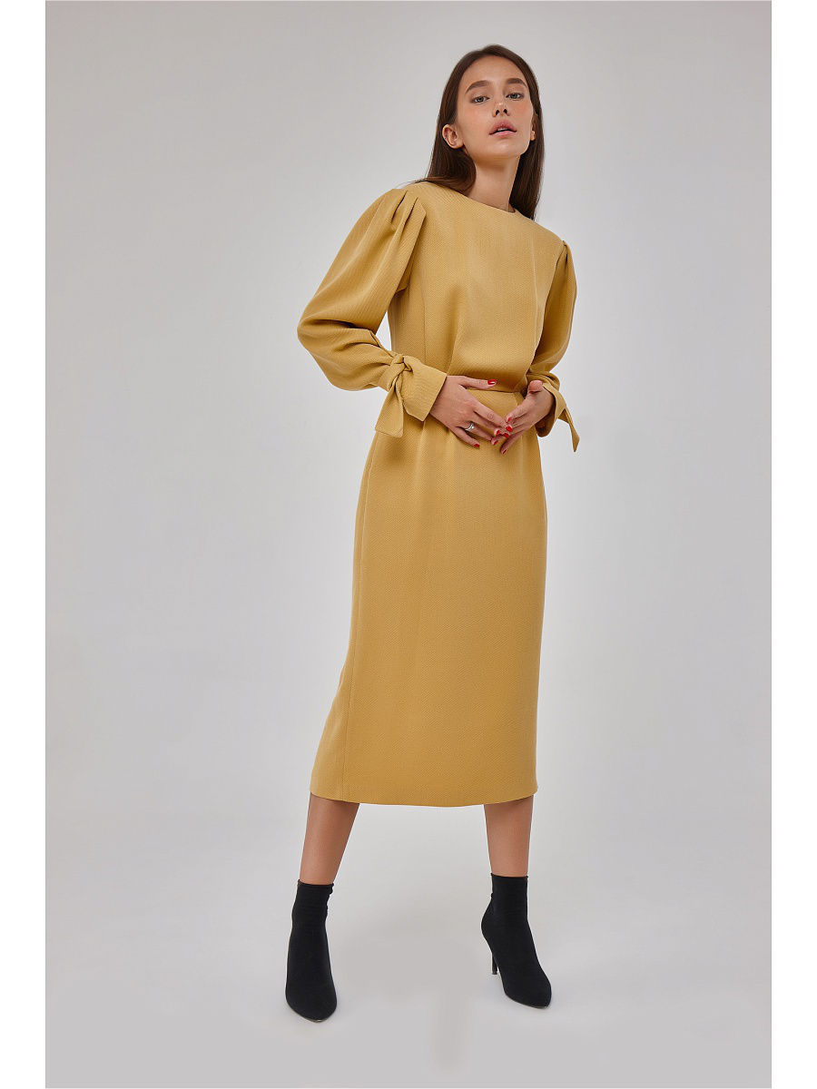 Платья Katya Erokhina Платье Balu Mustard юбки katya erokhina юбка blair skirt