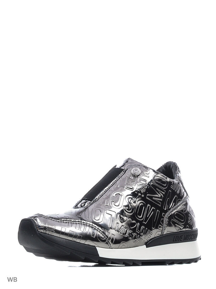 Женские кеды Love Moschino JA15264G04JI0910PEWTER