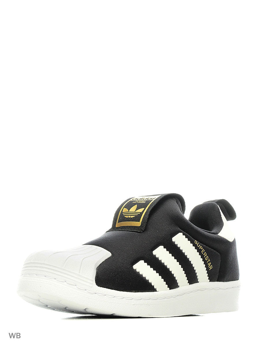 Кроссовки Adidas Кроссовки SUPERSTAR 360 C CBLACK/FTWWHT/GOLDMT adidas x pharrell little kids superstar supercolor