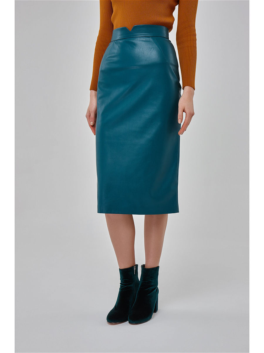 Юбки Katya Erokhina Юбка Voland Leather Green юбки katya erokhina юбка blair skirt