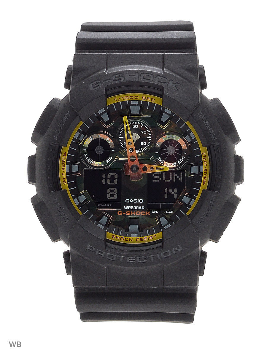 Часы наручные CASIO Часы G-Shock GA-100BY-1A casio g shock ga 150 1a