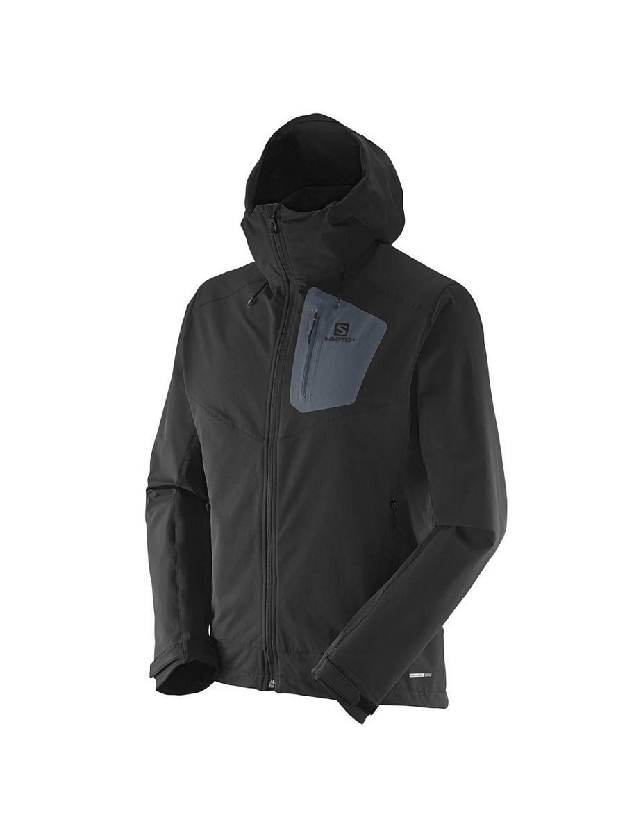 Куртки SALOMON Куртка RANGER SOFTSHELL JKT M BLACK salomon куртка пуховая мужская salomon halo