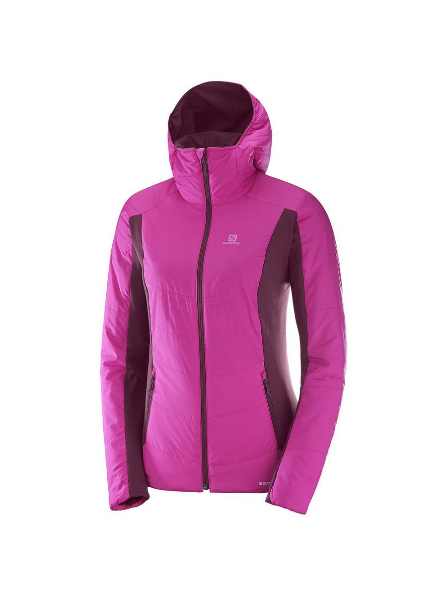 Куртки SALOMON Куртка DRIFTER MID HOODIE W Rose Violet/Fig salomon ботинки мужские salomon x alp mid