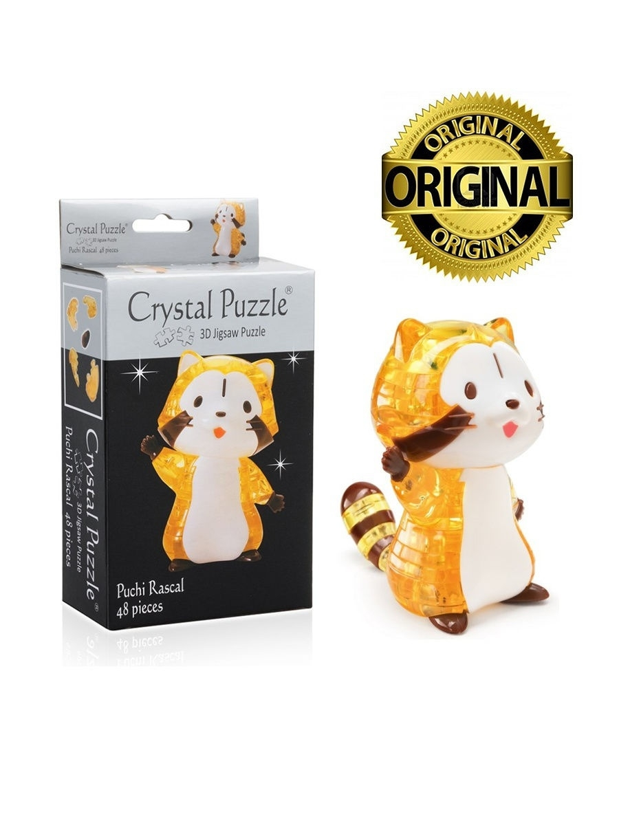 Пазлы Crystal puzzle Головоломка 3D Енот головоломка 3d эйфелева башня crystal puzzle