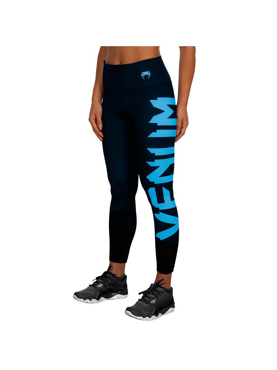 Тайтсы Venum Тайтсы Venum Giant Black/cyan