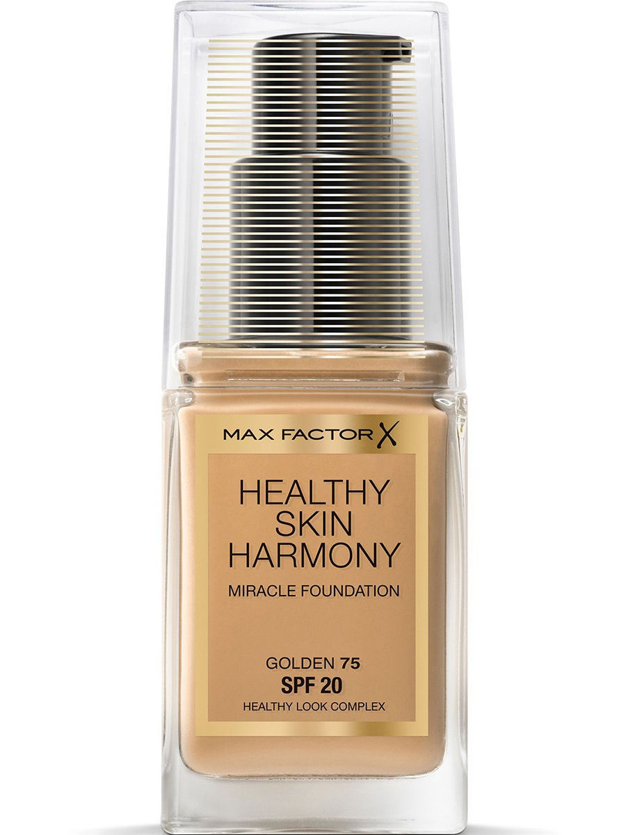 Тональные кремы MAX FACTOR Тональная Основа Healthy Skin Harmony Miracle Foundation Тон 75 golden max factor основа под макияж lasting perfomance 109 тон 35 мл