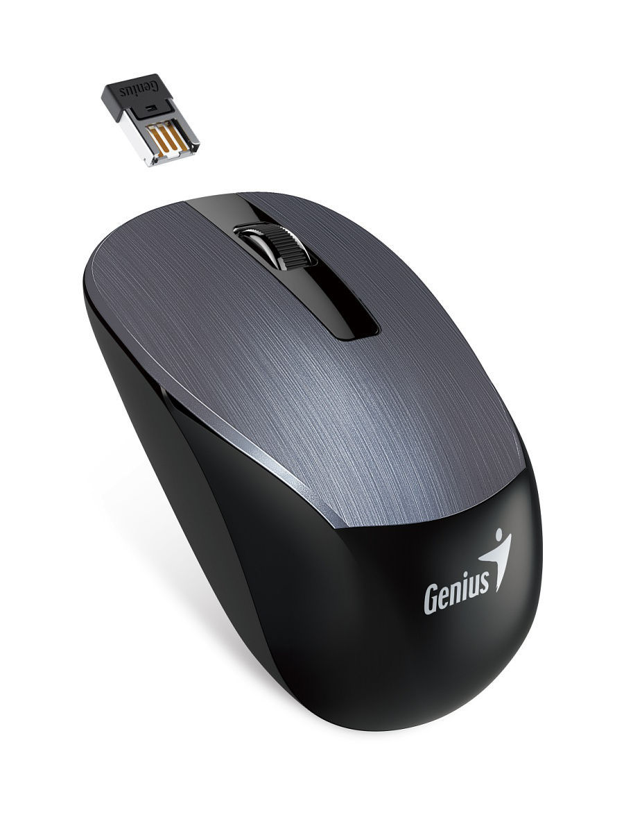 Мыши GENIUS Мышь Wireless BlueEye NX-7015 Iron Gray genius dx 150x