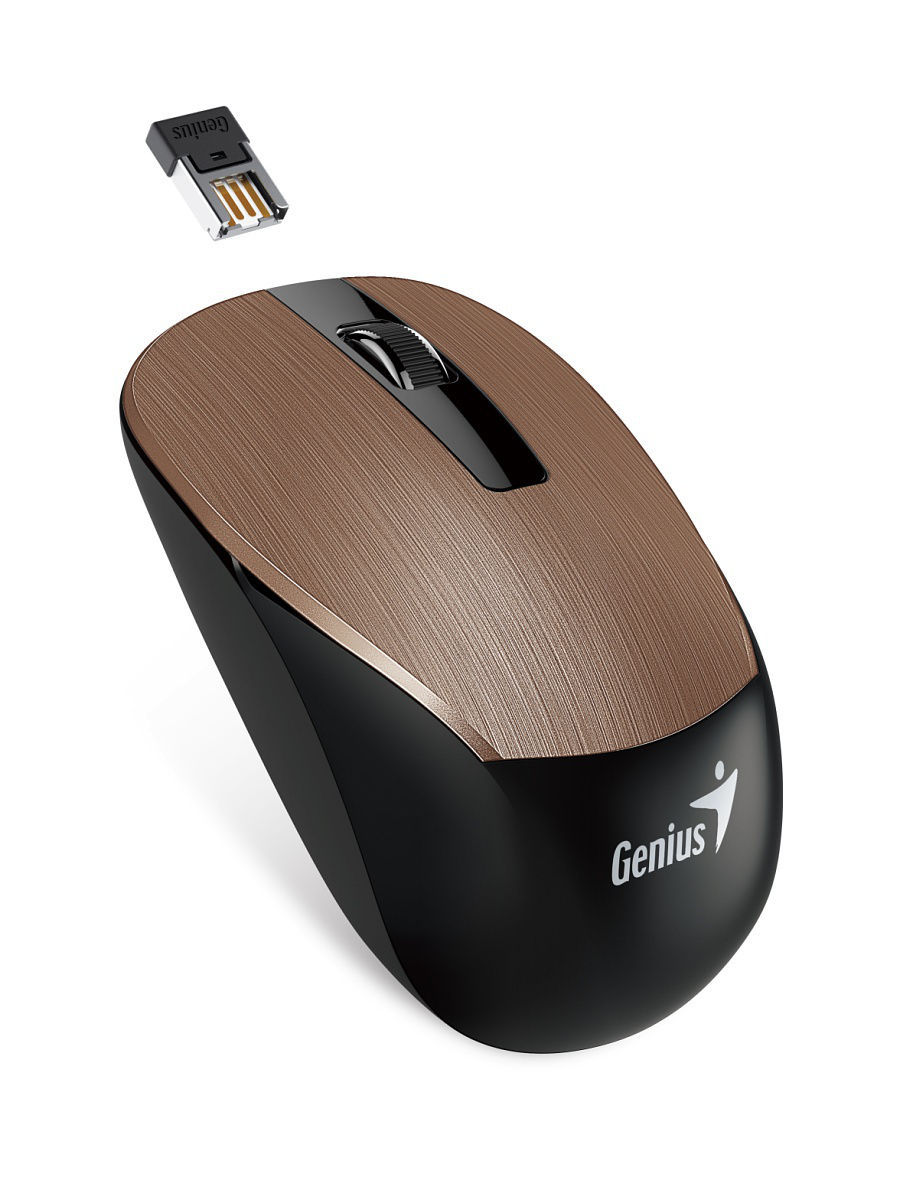 Мыши GENIUS Мышь Wireless BlueEye NX-7015 Rosy Brown цена и фото