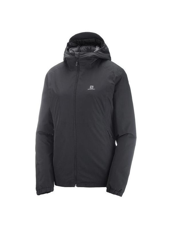 Куртки SALOMON Куртка ESSENTIAL INSULATED JKT W Black salomon куртка пуховая мужская salomon halo