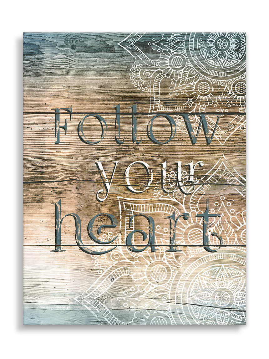 Картины Styler Репродукция на холсте 40x50 см FOLLOW YOUR HEART
