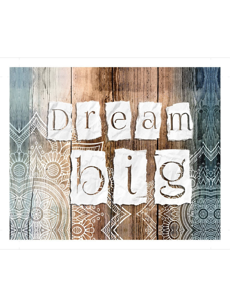Картины Styler Репродукция на холсте 40x50 см DREAM BIG