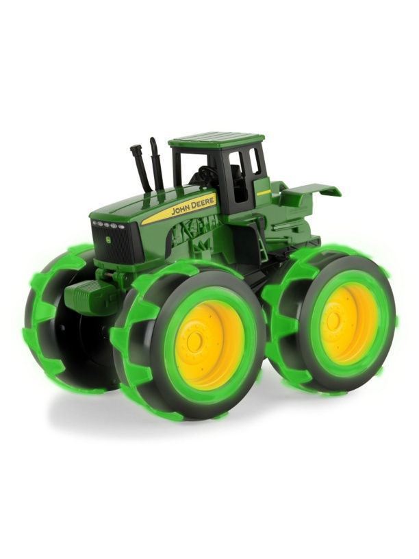 Машинки TOMY Трактор Monster Treads с бол.колесами с подсветкой Tomy John Deere ,21х25х17см машинки tomy машинка tomy john deere реверсивные monster treads