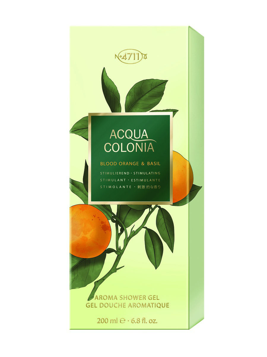 Гели 4711 ACQUA COLONIA Acqua Colonia 4711  Stimulating - Blood Orange & Basil МЖ Товар Гель для душа, 200мл acqua di parma colonia club дезодорант стик colonia club дезодорант стик