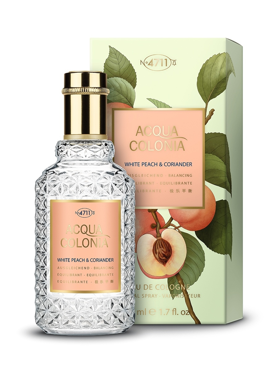 Одеколон 4711 ACQUA COLONIA Acqua Colonia 4711  Balancing - White Peach & Coriander МЖ Товар Одеколон 50мл acqua di parma colonia club дезодорант стик colonia club дезодорант стик