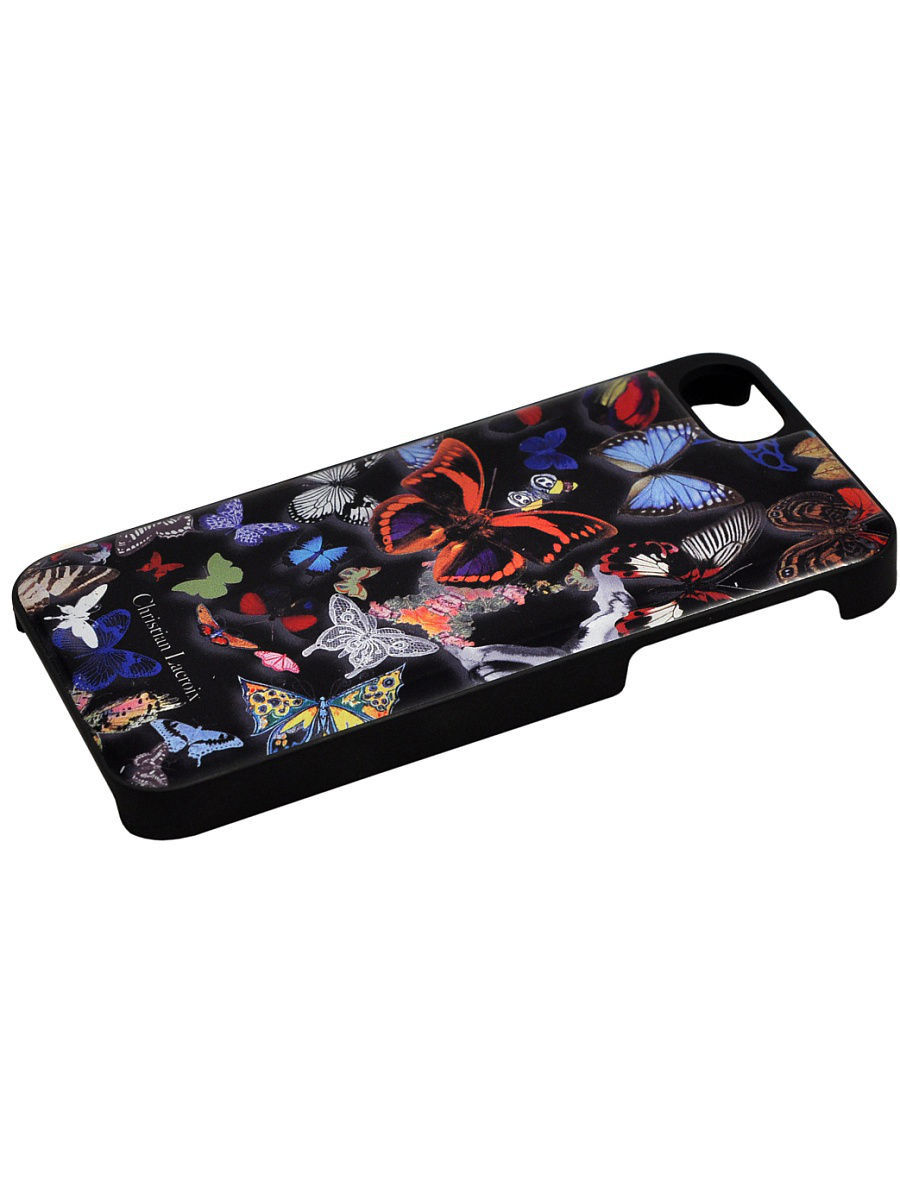 Чехлы для телефонов Christian Lacroix Чехол Lacroix для iPhone 5S/SE Butterfly Hard Black