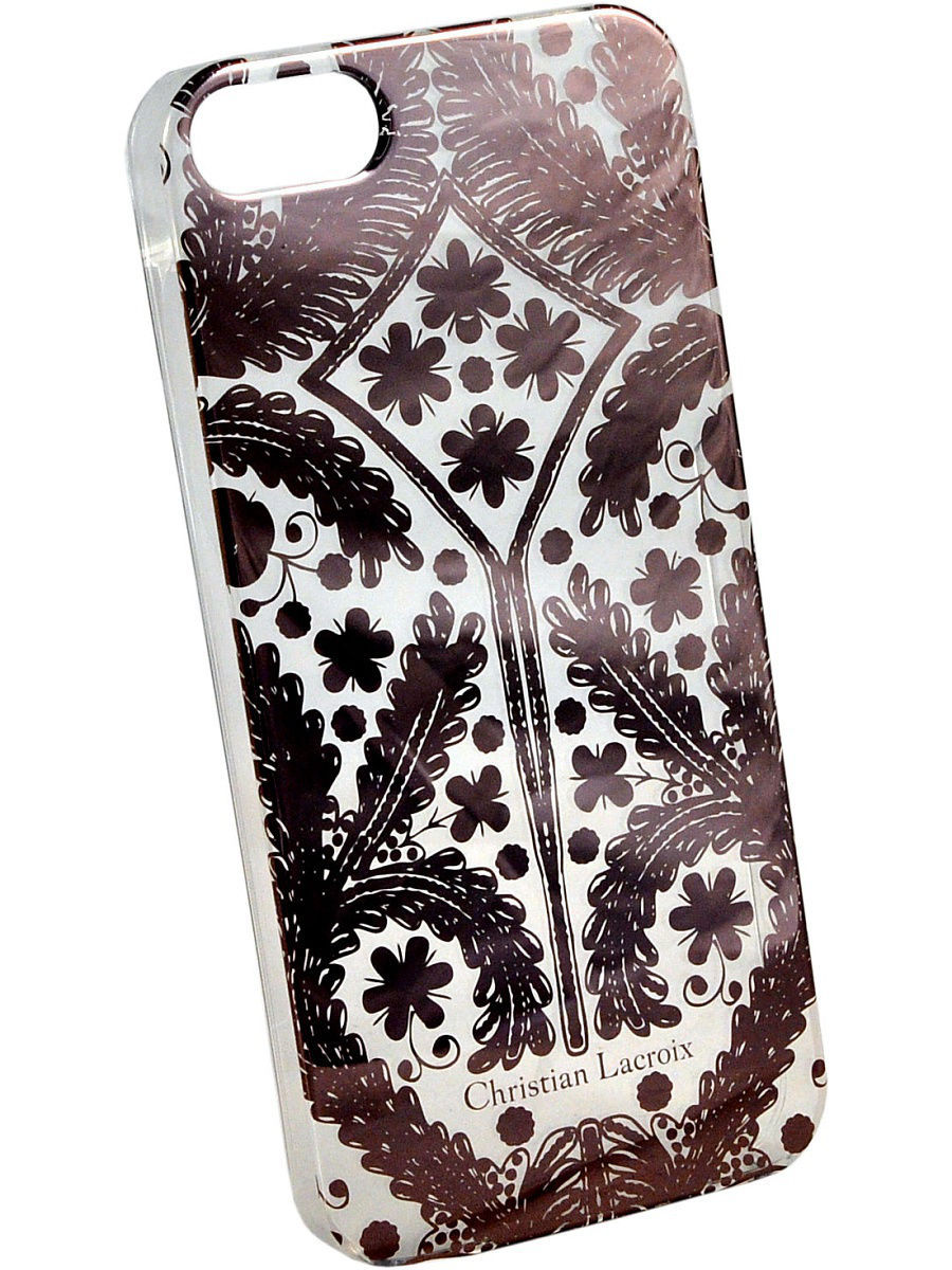 Чехлы для телефонов Christian Lacroix Чехол Lacroix для iPhone 5S/SE Paseo transparent Hard Rose gold