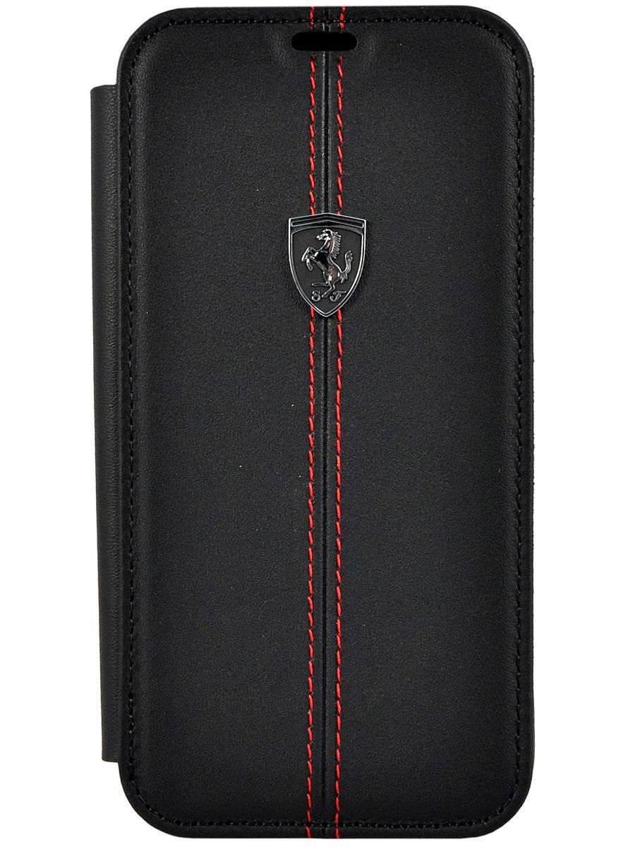 Чехлы для телефонов FERRARI Чехол Ferrari для iPhone X Heritage W Booktype Leather, Black
