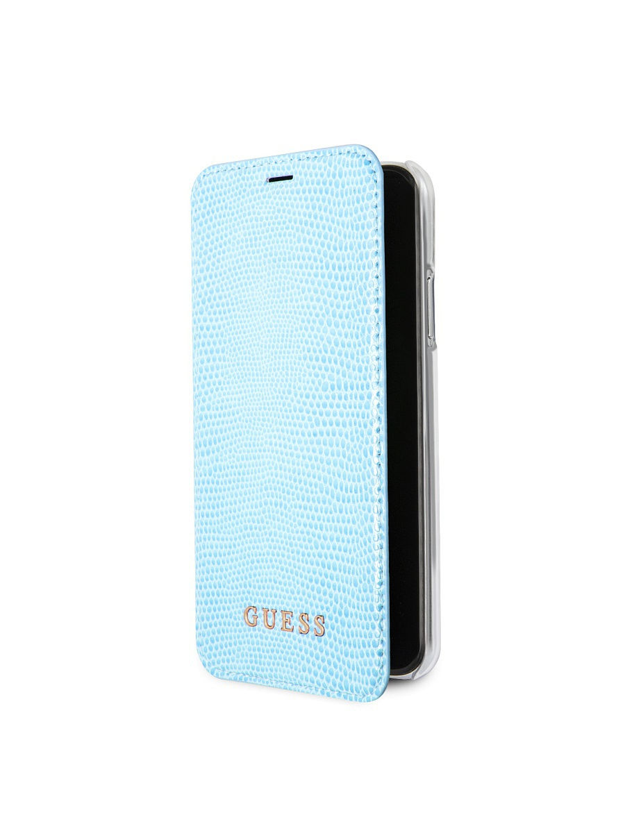 Чехлы для телефонов GUESS Чехол Guess для iPhone X Python Booktype PU, Blue guess gu460dwhlf92