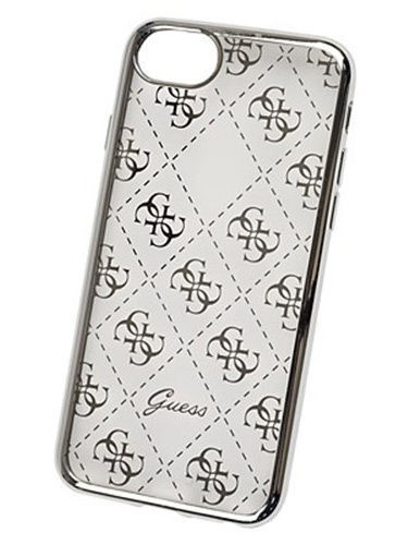 Чехлы для телефонов GUESS Чехол Guess для iPhone 7/8 4G Transparent Hard TPU Silver чехлы для телефонов guess чехол guess для iphone 7 8 flower desire 4g hard pu roses grey