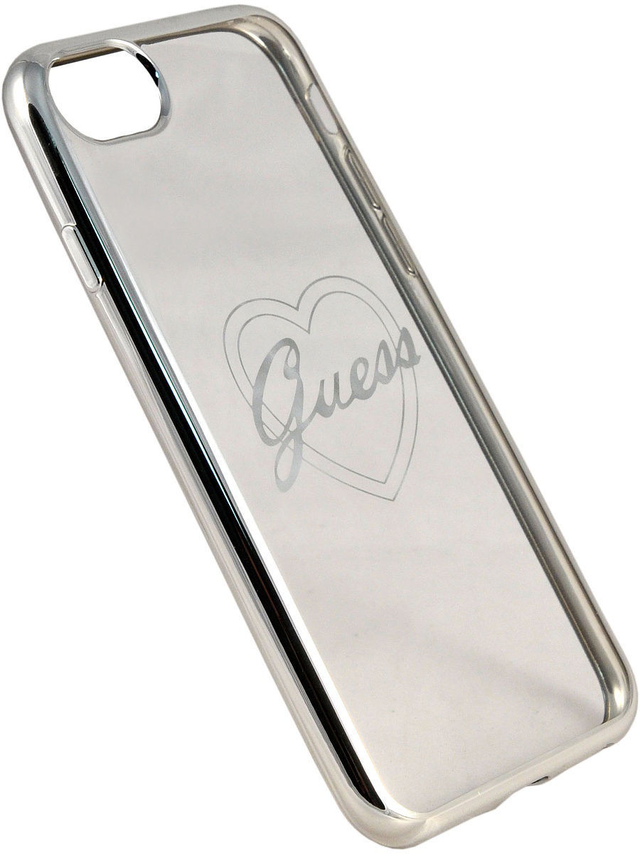 Чехлы для телефонов GUESS Чехол Guess для iPhone 7/8 Signature heart Hard TPU Silver чехлы для телефонов guess чехол guess для iphone 7 8 flower desire 4g hard pu roses grey