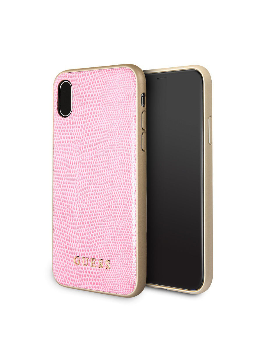 Чехлы для телефонов GUESS Чехол Guess для iPhone X Python Hard PU, Pink цена и фото