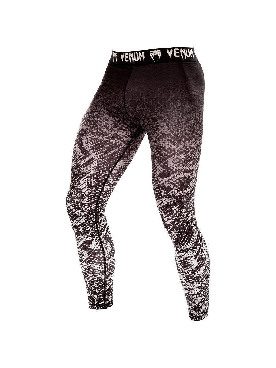 Тайтсы Venum Компрессионные штаны Venum Tropical Black/Grey тайтсы venum компрессионные тайтсы zombie return black