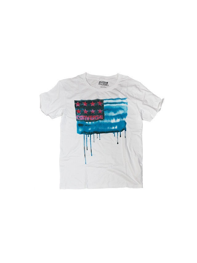 Футболка Converse Футболка AMT  BLEEDING FLAG TEE футболка converse футболка amt streaming color skull tee