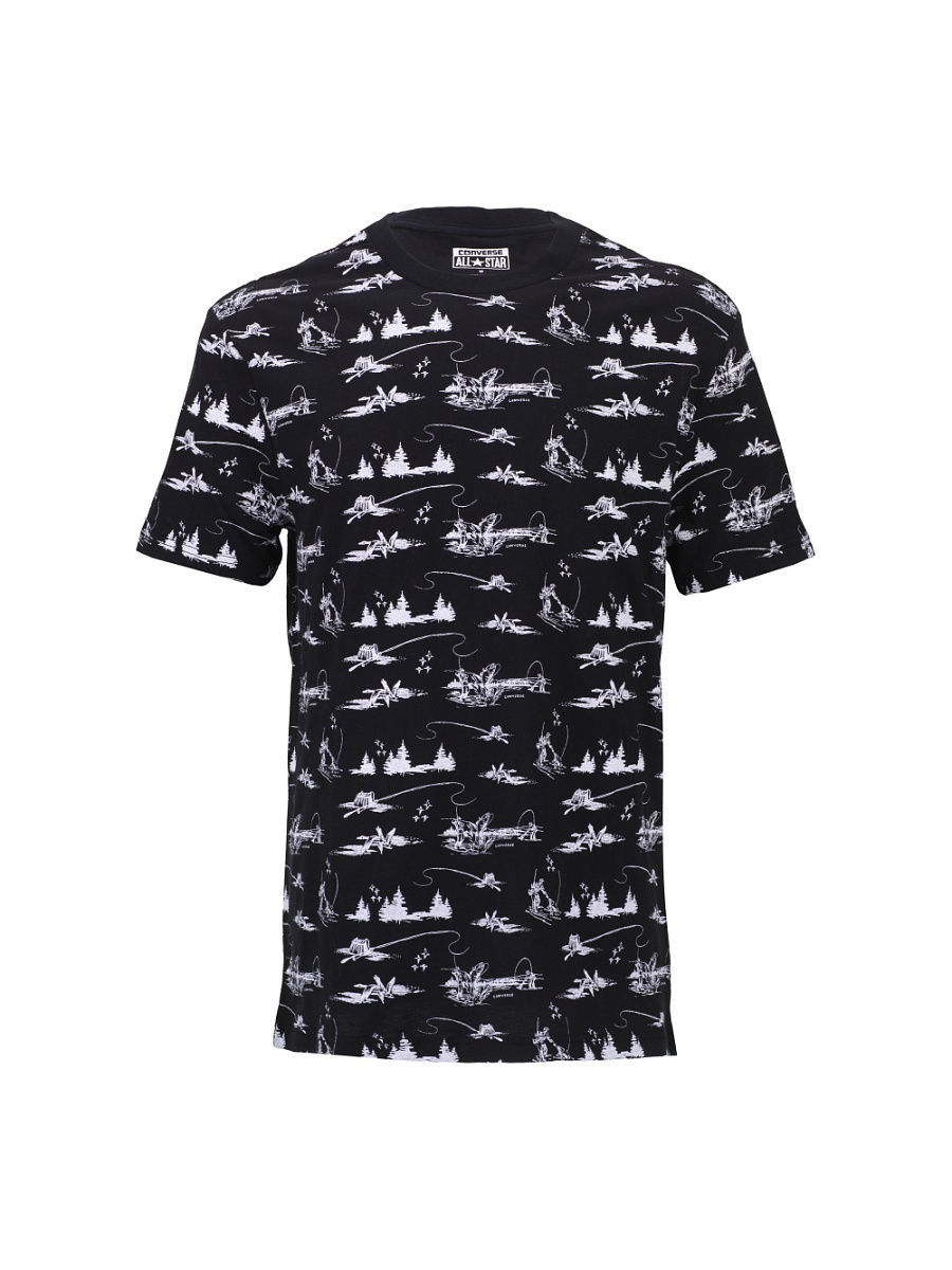 Футболка Converse Футболка AMT  OUTDOOR FT PRINT TEE футболка converse футболка amt streaming color skull tee