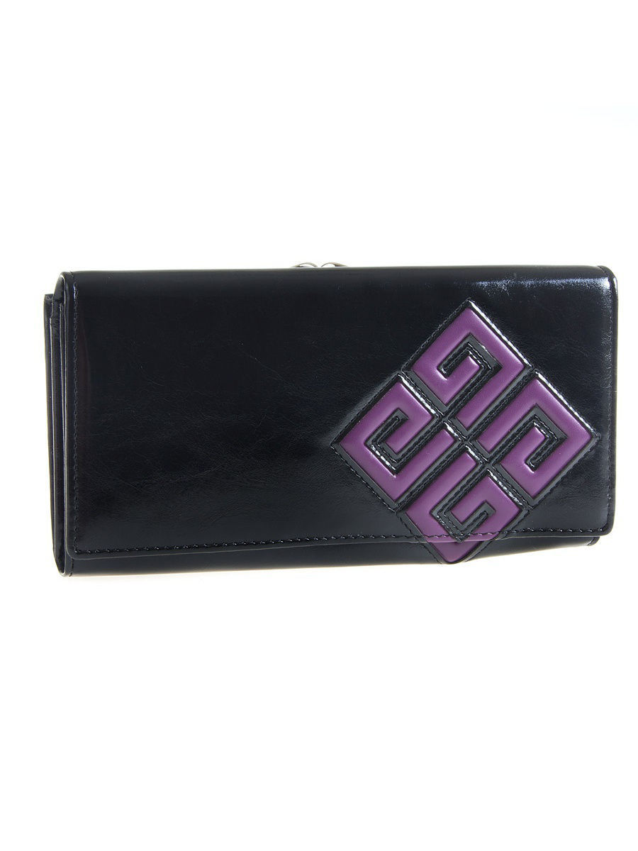 Кошелек ANDI MW-0015-Black/Purple