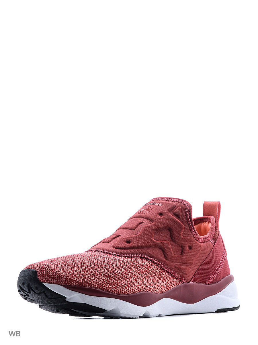 Кроссовки Reebok Кроссовки жен. FURYLITE SLIP-ON CI FIRE CORAL/RED/PINK/ pink coral