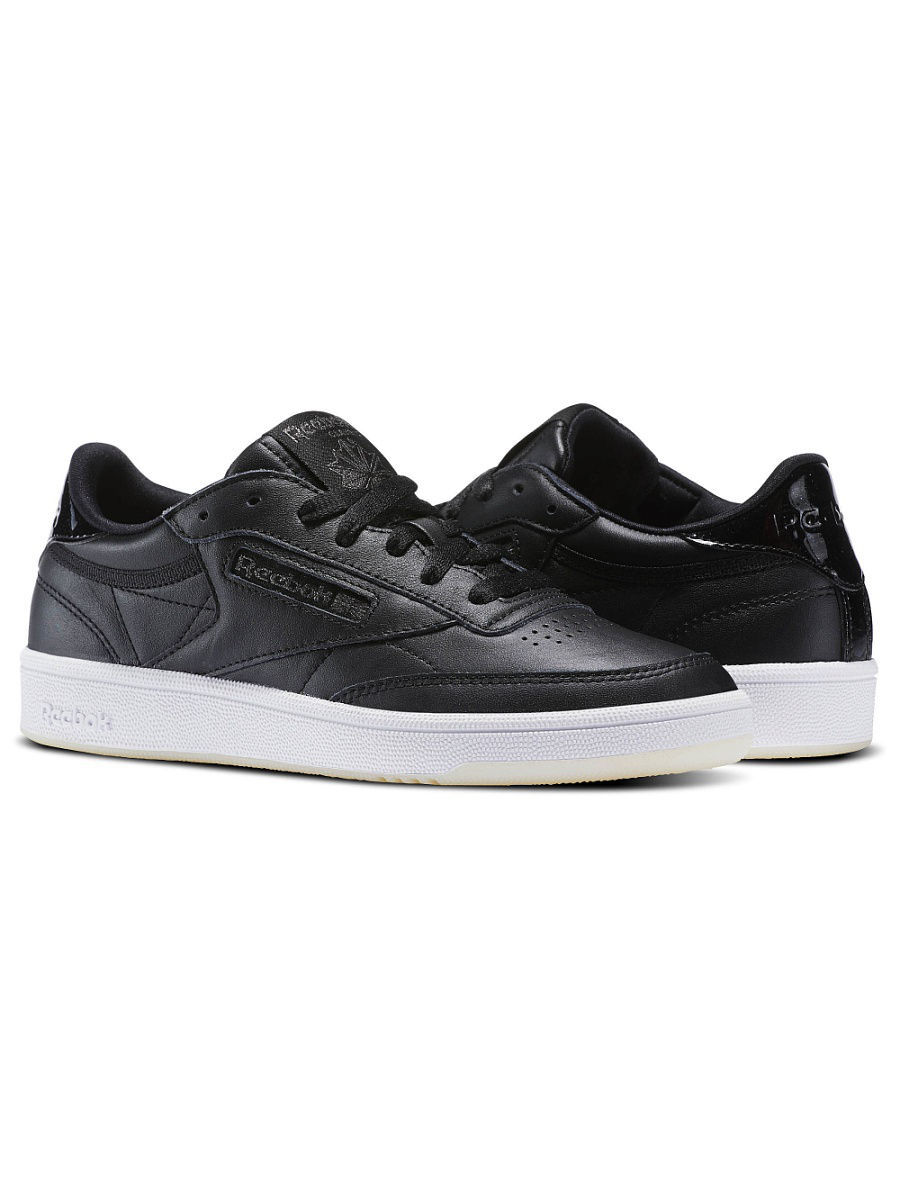 Кеды Reebok Кеды CLUB C 85 LTHR BLACK/WHITE/ICE nike regent lthr