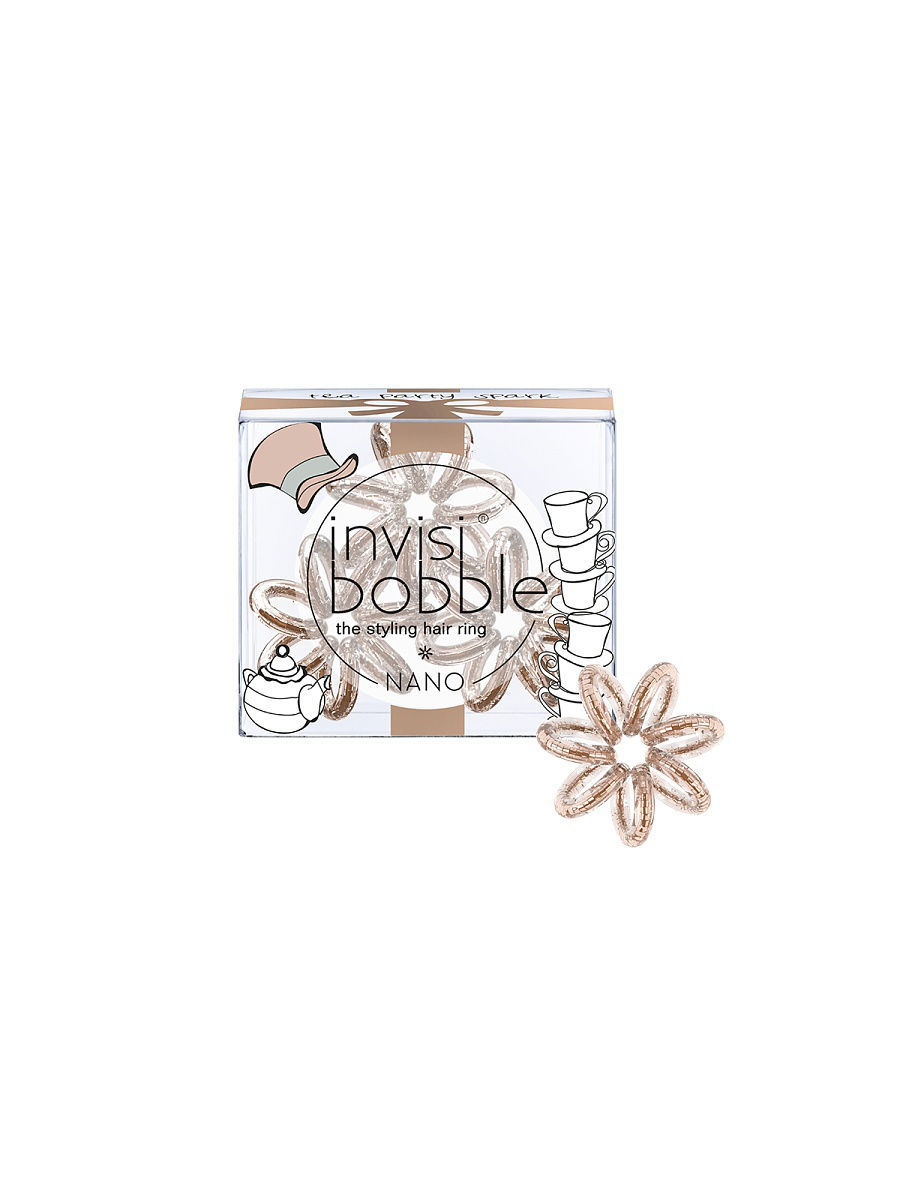 Резинки Invisibobble Резинка для волос invisibobble NANO Tea Party Spark invisibobble резинка для волос styling box