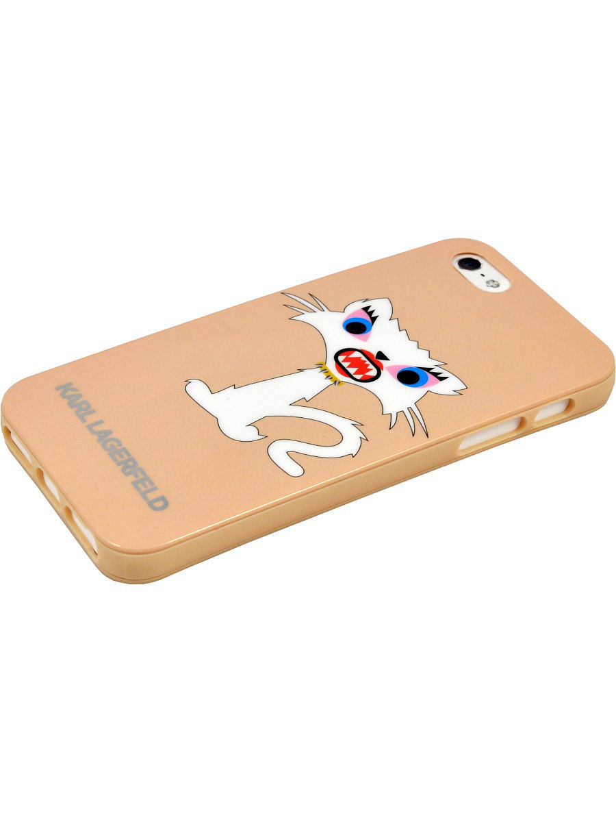 купить Чехлы для телефонов Karl Lagerfeld Lagerfeld iPhone 5S/SE Monster Choupette Hard TPU Beige онлайн