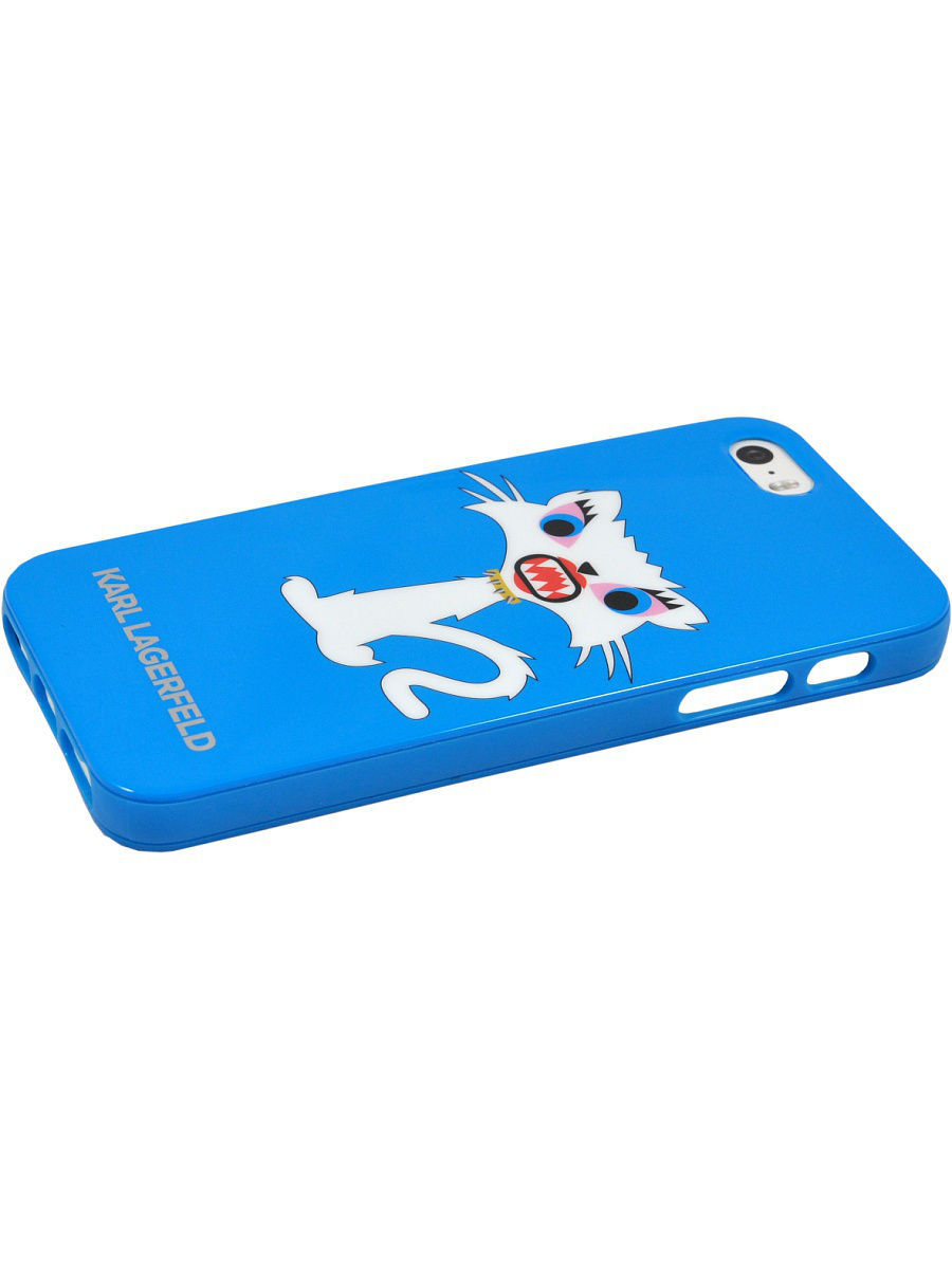 купить Чехлы для телефонов Karl Lagerfeld Lagerfeld iPhone 5S/SE Monster Choupette Hard TPU Light blue онлайн