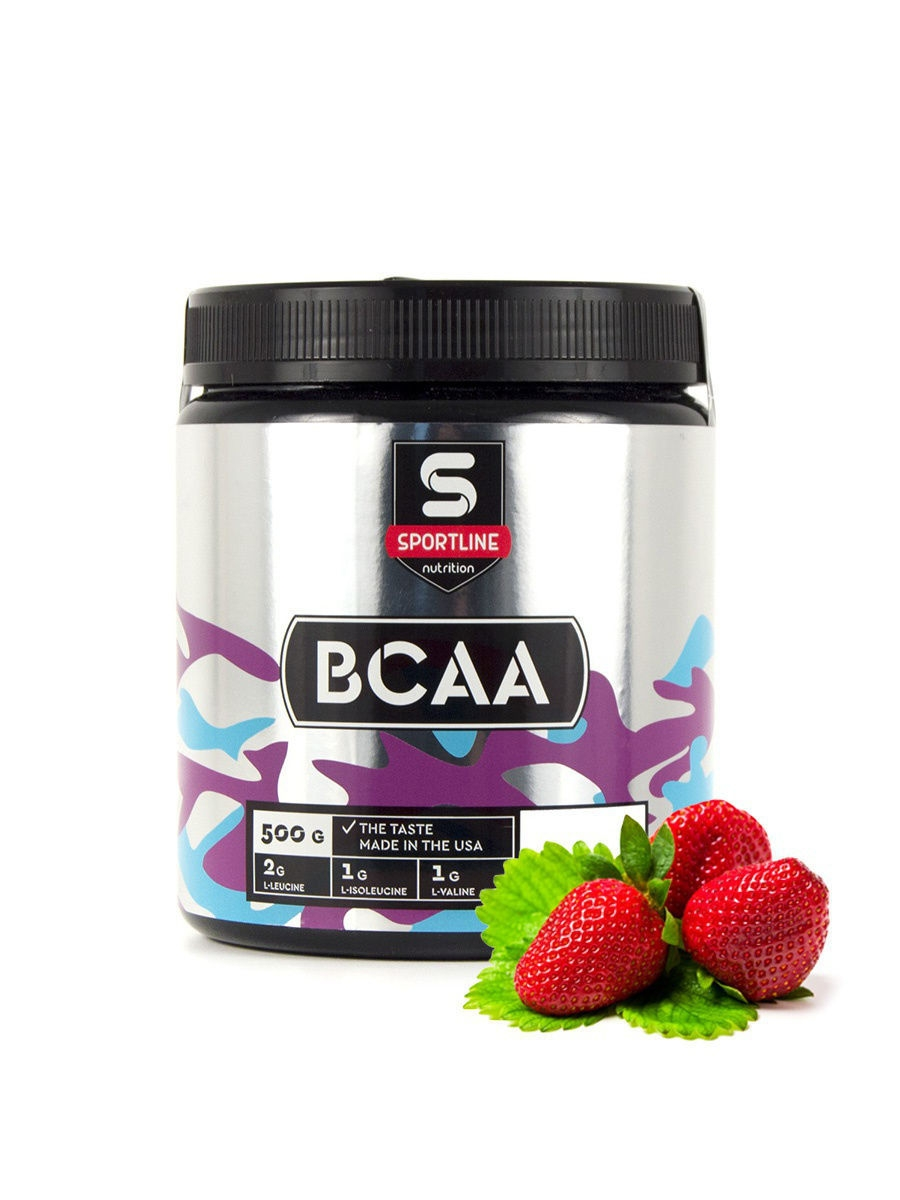 Аминокислоты SportLine Nutrition Аминокислоты BCAA 2:1:1 500g (Strawberry) prime kraft bcaa 2 1 1 зеленое яблоко