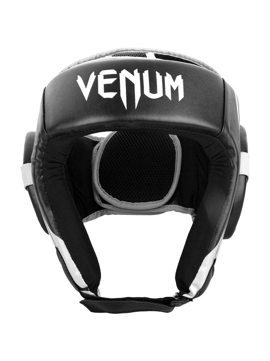 Шлемы Venum Шлем боксерский Venum Challenger 2.0 Open Face Black/White шлем боксерский venum elite headgear 100% premium leather