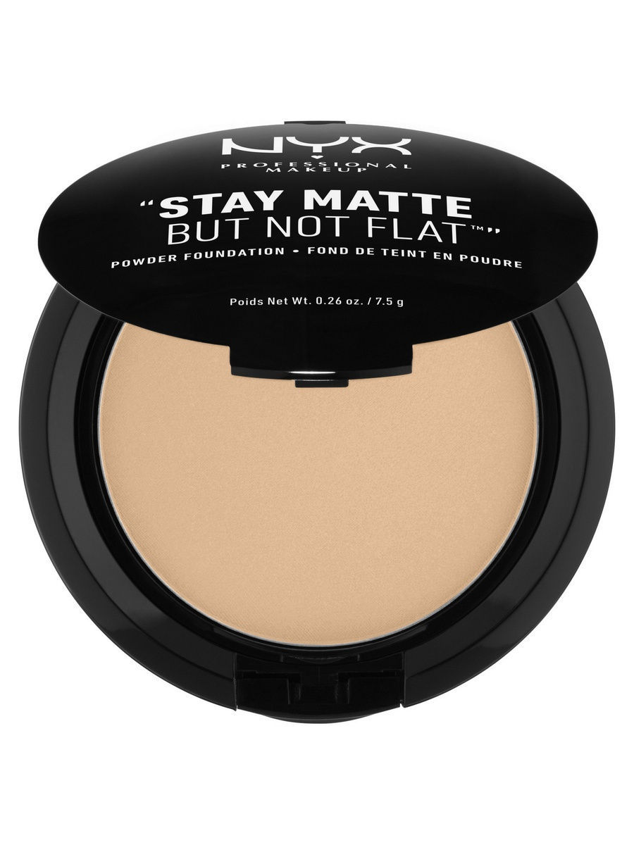 Пудры NYX PROFESSIONAL MAKEUP Тональная основа-пудра. STAY MATTE BUT NOT FLAT POWDER FOUNDATION - MEDIUM BEIGE 06 пудра для лица photoready powder light medium 20