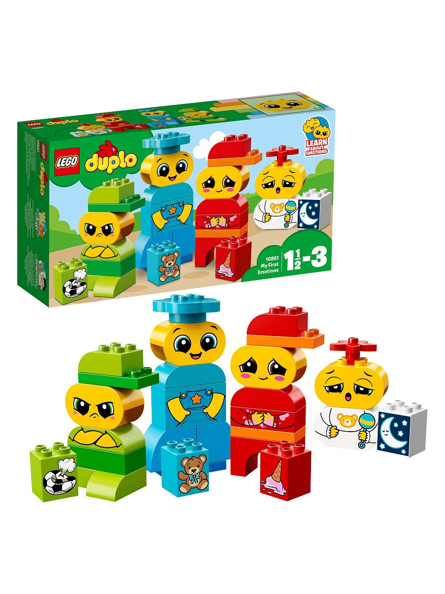 Конструкторы Lego LEGO Мои первые эмоции DUPLO My First 10861 конструкторы lego lego duplo my first поезд считай и играй 10847