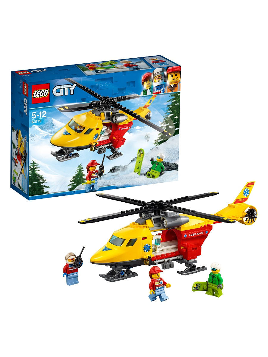 Конструкторы Lego LEGO Вертолёт скорой помощи City Great Vehicles 60179 конструкторы lego lego city побег в шине 60126