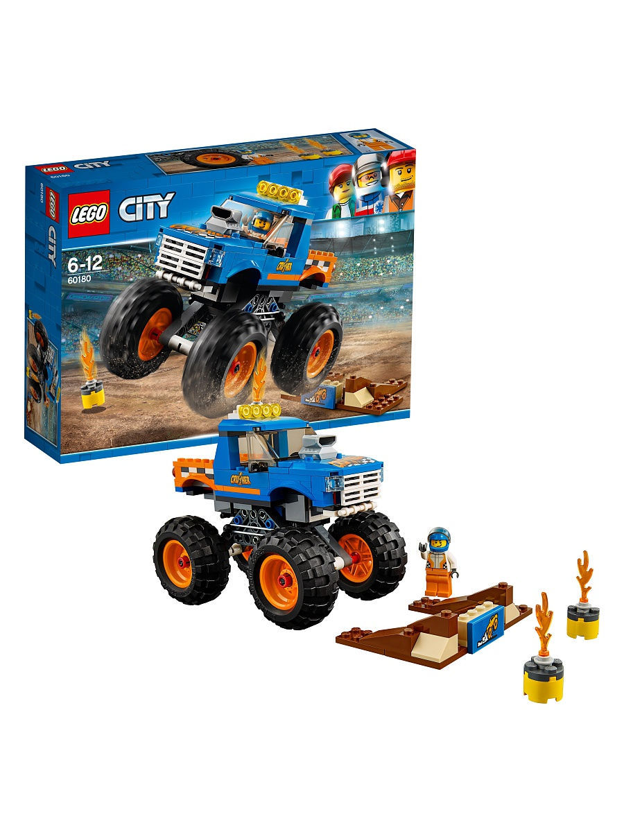 Конструкторы Lego LEGO Монстр-трак City Great Vehicles 60180 конструкторы lego lego city побег в шине 60126