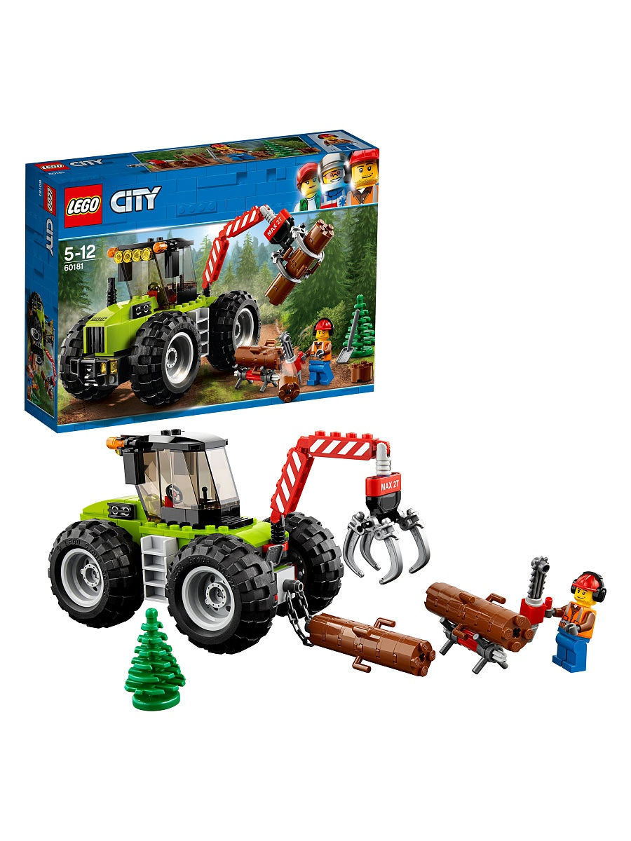 Конструкторы Lego LEGO Лесной трактор City Great Vehicles 60181 конструкторы lego lego city побег в шине 60126