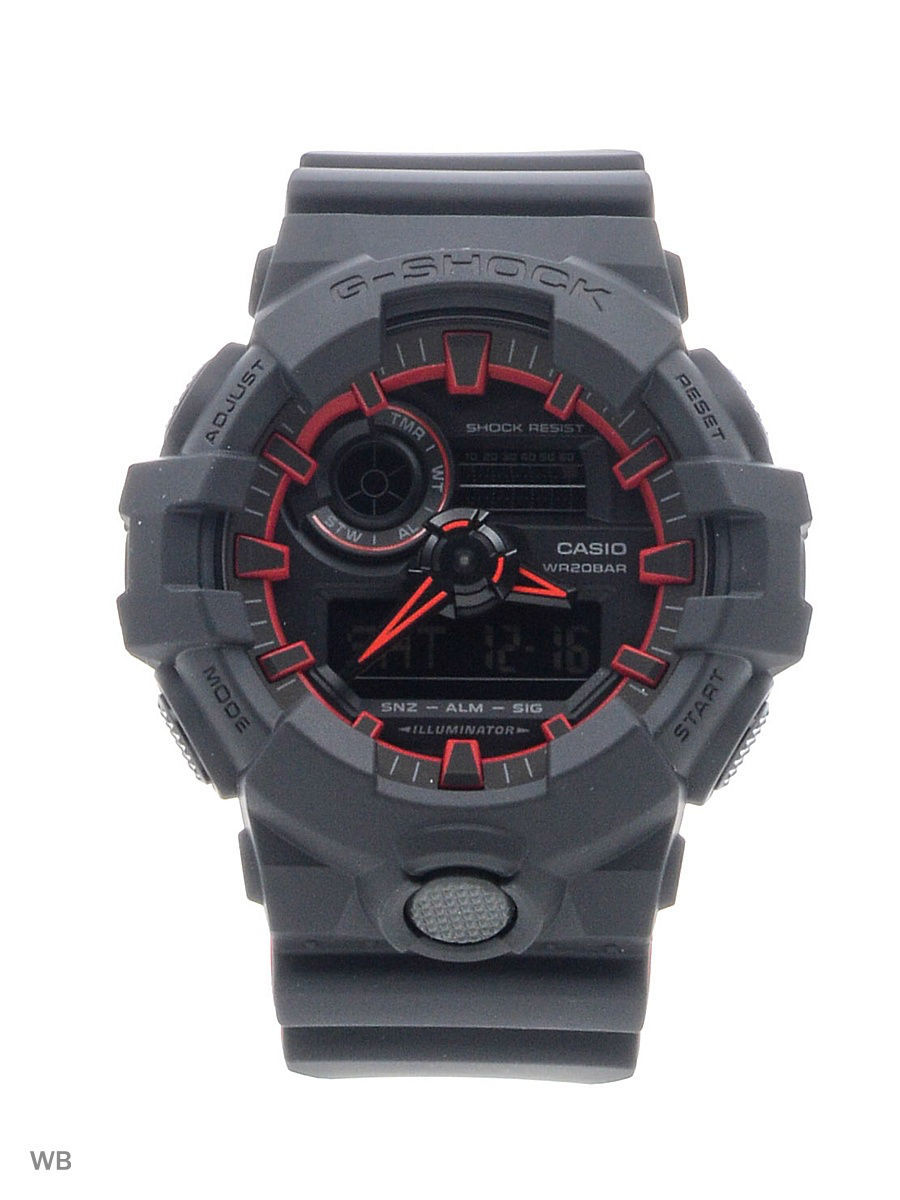 Часы наручные CASIO Часы G-Shock GA-700SE-1A4 casio часы casio ga 400gb 1a4 коллекция g shock