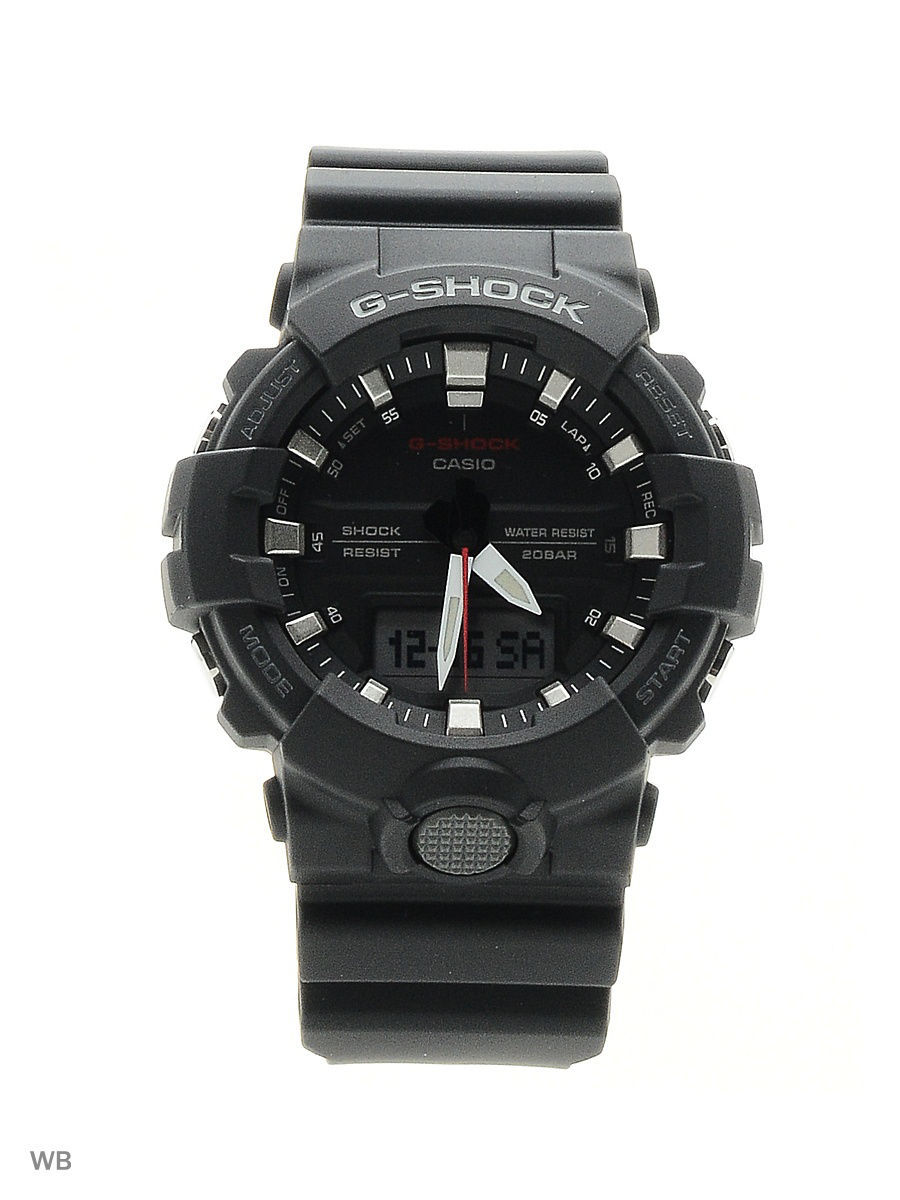 Часы наручные CASIO Часы G-Shock GA-800-1A часы casio g shock ga 110mb 1a black