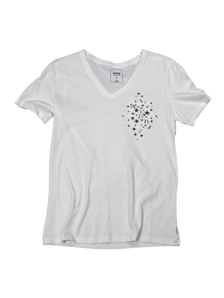 Футболка Converse Футболка Star Easy Vneck Pocket Tee футболка converse футболка amt streaming color skull tee