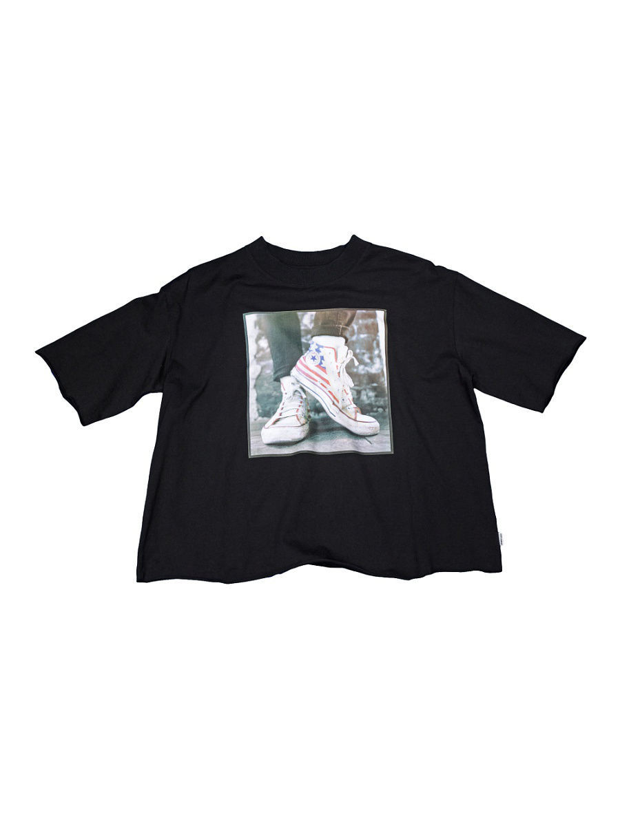 Футболка Converse Футболка Sneaker Photo Mock Neck Tee