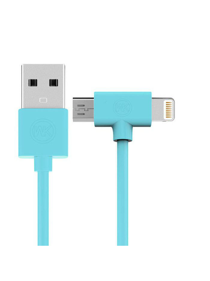 Кабели REMAX Usb Apple iPhone 5 / micro USB Blue 1m аксессуар belkin usb to micro usb cable 2 0m blue f2cu012bt2m blu