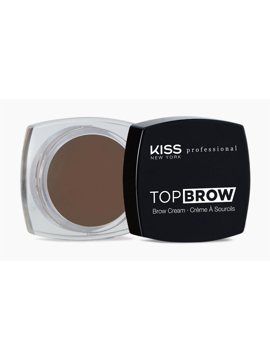 Гели для бровей KISS NEW YORK Помада для бровей Top Brow KBCM04 Dark Brown, 3 гр. туши kiss kiss тушь для бровей dark brown eyebrow mascara rbm02