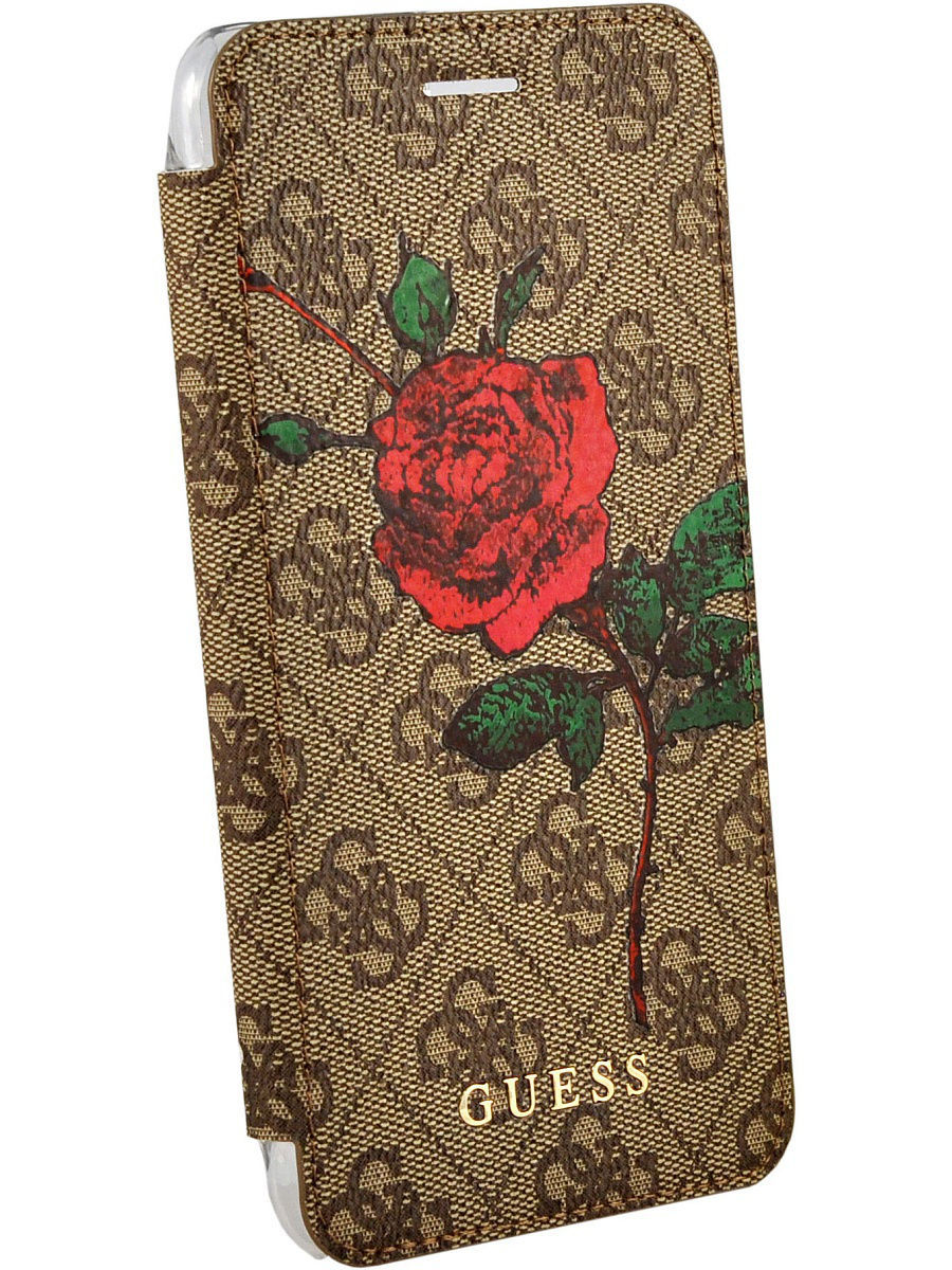 Чехлы для телефонов GUESS Чехол Guess для iPhone 7Plus/8Plus Flower desire 4G Booktype PU/roses Brown чехлы для телефонов guess чехол guess для iphone 7 8 flower desire 4g hard pu roses grey