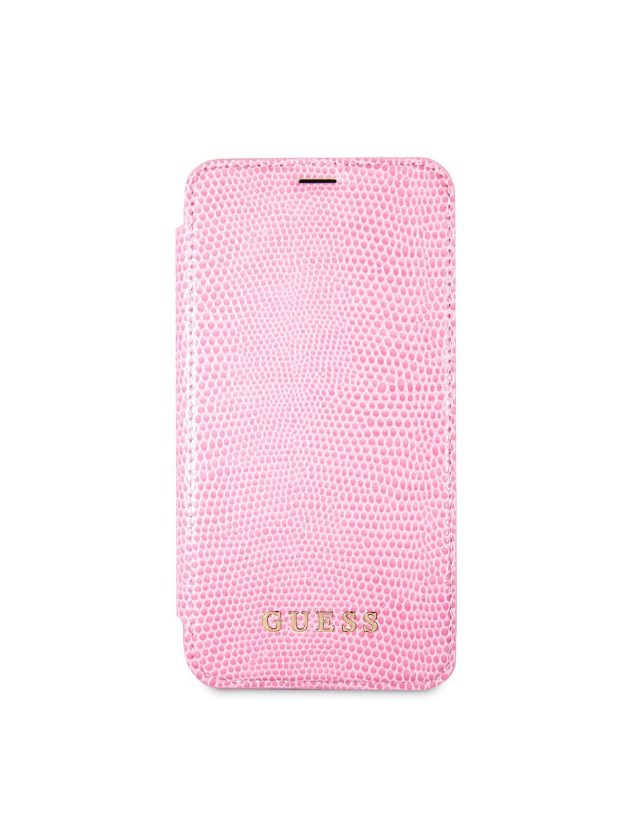 Чехлы для телефонов GUESS Чехол Guess для iPhone X Python Booktype PU Pink чехлы для телефонов guess чехол guess для iphone 7 8 flower desire 4g hard pu roses grey