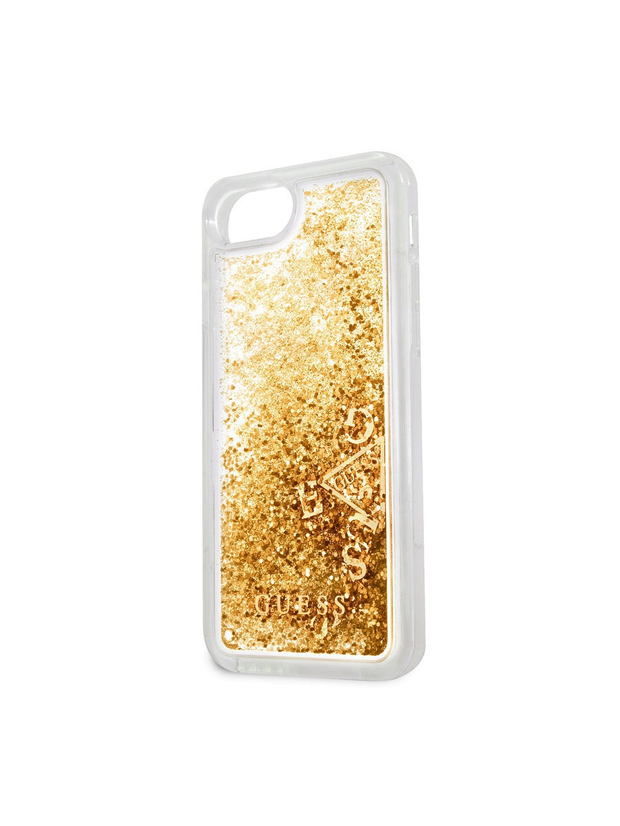 Чехлы для телефонов GUESS Чехол Guess для iPhone 7/8 Glitter Hard PC Gold чехлы для телефонов guess чехол guess для iphone 7 8 flower desire 4g hard pu roses grey